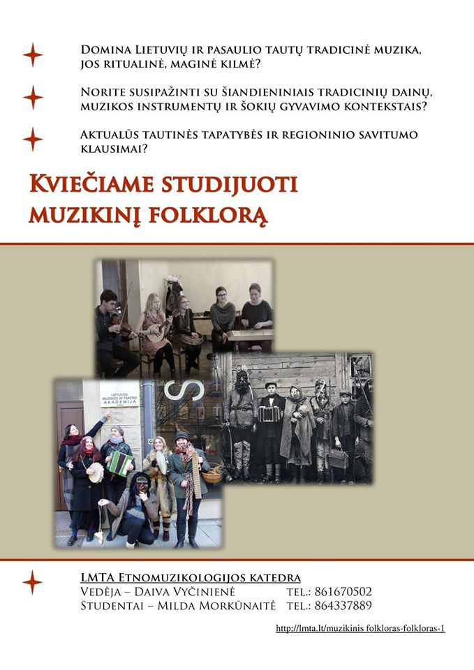 Kvietimas studijuoti_Etnomuzikologijos katedra